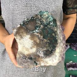 7LB Natural amethyst quartz cluster mineral crystal specimen healing 6.4 GA297
