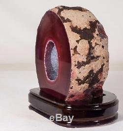 7Lbs Agate Geode Crystal Quartz Polished Druzy Specimen Cluster Brazil