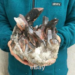 8.2LB Natural Large Smoky Quartz Cluster Healing Crystal Point Mineral Specimen