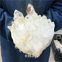 8.36LB Natural white Quartz Cluster Mineral Crystal Specimen Healing