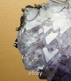 8.3lb Rare Natural Fluorite & Black Crystal Cluster Mineral Specimen/China