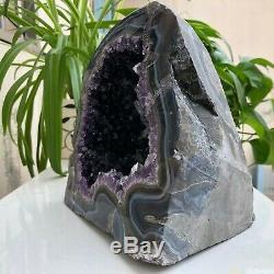 8.77LB Natural Amethyst Geode Quartz Cluster Crystal Specimen Healing A192