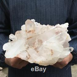 8.8LB Natural Clear quartz cluster Mineral crystal specimen healing 8'' ACC2-FA