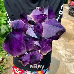 8.9LB Natural Amethyst quartz cluster crystal polishing specimen Healing