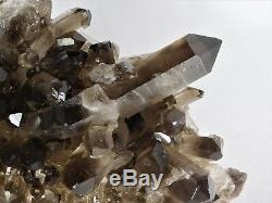 8 Large Smoky Quartz Crystal Cluster Mineral Brazil Great Gift Home Decor