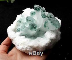 815.6g Green Phantom Quartz Crystal Cluster Mineral Specimen Healing