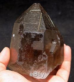 820g NATURAL Clear Smoky Golden RUTILATED QUARTZ Crystal Cluster Specimen