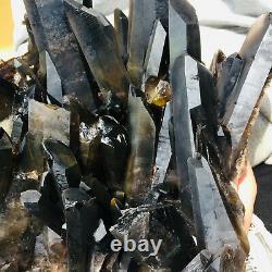 8290g Large Natural Black Quartz Crystal Cluster Rough Healing Specimen