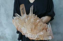 8380g(18.4lb) Natural Beautiful Clear Quartz Crystal Cluster Tibetan Specimen