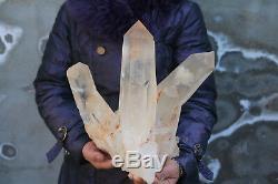 8600g(18.9lb) Beautiful Natural CLear Quartz Crystal Cluster Specimen Tibet H101