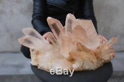 8960g(19.7lb) Natural Beautiful Clear Quartz Crystal Cluster Tibetan Specimen