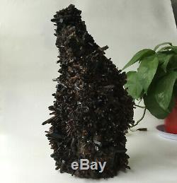 9.3lb Huge Natural Black Smoky Quartz Crystal Cluster Rough Healing Specimen