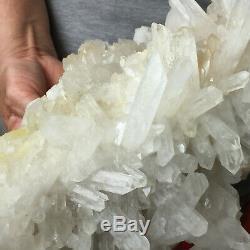 9.4lb Large Natural Clear White Quartz Crystal Cluster Rough Healing Specimen