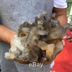 9.59LB Natural smokey quartz cluster crystal wand point healing UT1207
