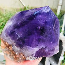 9.5LB Natural Amethyst geode quartz cluster crystal specimen Healing C193
