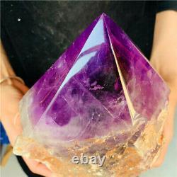 9.64LB Natural Amethyst Quartz Cluster Crystal Wand Point Specimen Healing
