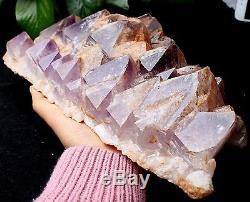 9.724lb Natural Skeletal Amethyst QUARTZ Crystal Cluster Specimen Healing