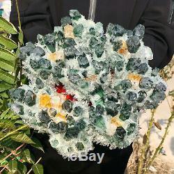 9.94LB New Find Green Phantom Quartz Crystal Cluster Mineral Specimen Healing
