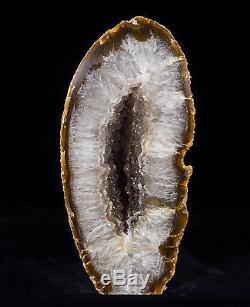 9'' Agate Geode Crystal Quartz Polished Druzy Specimen Cluster Brazil