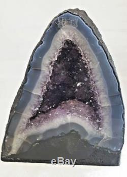 9 Amethyst Cathedral Geode Crystal Quartz Natural Cluster Specimen Brazil