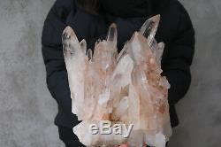 9000g(19.82lb) Natural Beautiful Clear Quartz Crystal Cluster Tibetan Specimen