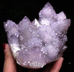 960g Natural Amethyst Spirit Quartz / Cactus Crystal Cluster Display Specimen