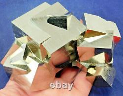 A Crazy! TWELVE Natural Entwined PYRITE Crystal Cubes! In a HUGE Cluster 1111gr