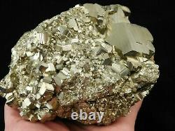 A HUGE Rhombic Pyrite Crystal Cluster From Peru! 2522gr