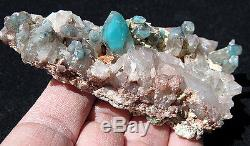 A Quality, Large Ajoite included Quartz Crystal Cluster Messina, South Africa