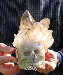 AAA++3270g NATURAL SMOKY CITRINE QUARTZ CRYSTAL CLUSTER skull Healing