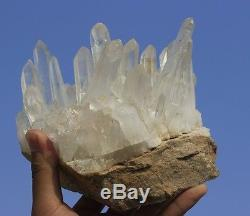 AAA+++ Clear Natural QUARTZ Crystal Cluster Tibetan Specimen