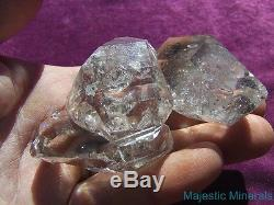 AAA MOBILE ENHYDRO LARGE WATER CLEAR Herkimer Diamond Quartz Crystal Cluster