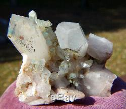 Ajoite in Quartz Cluster Crystal Messina Copper Mine