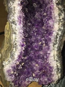 Amethyst Cathedral Geode Crystal Quartz Cluster Specimen Uruguay