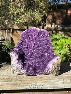 Amethyst Cluster Quartz Geode from Uruguay (6 Lb)