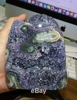 Amethyst Crystal Cluster Cathedral Geode Uruguay Stalactite Base Stand