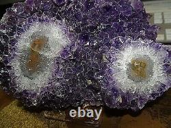 Amethyst Crystal Cluster Geode Uruguay Cathedral Stalactite Base Stand