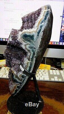 Amethyst Crystal Cluster Geode Uruguay Cathedral Stalactite Bases Stand