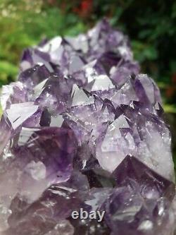Amethyst Crystal Cluster point Natural large polished edge Top grade 1.5kg