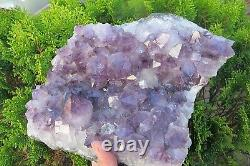 Amethyst Crystal Healing Cluster large points Natural purple large bed 2.2 Kilos