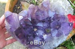 Amethyst Crystal Healing Cluster large points Natural purple large cheap bed