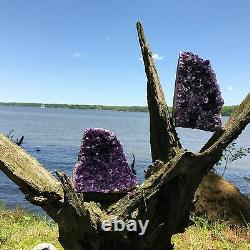 Amethyst Druze Crystal Cluster With Cut Base EXTRA LARGE Size Specimen 2 Lbs