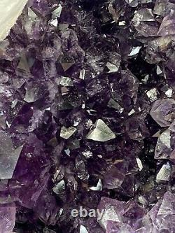 Amethyst Geode Cathedral Natural Druzy With Calcite Inclusions 35 lbs