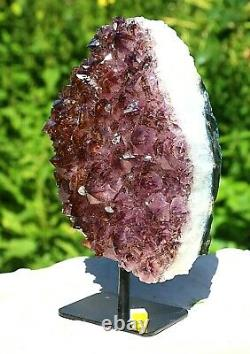 Amethyst Large Crystal Geode Cluster On Stand Natural Mineral Healing 1.9kg