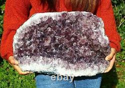 Amethyst Quartz Crystal Cluster Geode Large Natural Raw Mineral Healing 18.9kg