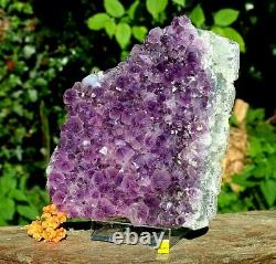 Amethyst Quartz Crystal Cluster Geode Large Natural Raw Mineral Healing 3204g