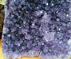 Amethyst geode quartz cluster crystal dark purple