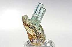 Aquamarine Crystal Cluster on Matrix Gem Quality Aqua Mineral Specimen Namibia