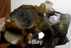 Arkansas Black Phantom Quartz Crystal Cluster D-567