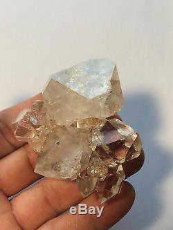 Authentic Herkimer Diamond Quartz Crystal Cluster 10+pc Great clarity, Aesthetic
